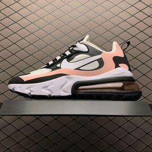 Air Max 270 React Black White Bleached Coral